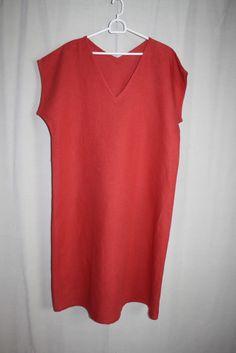 cocon.commerz PRIVATSACHEN HAUSHALT Kleid aus Wäscheleinen in rot Größe 2