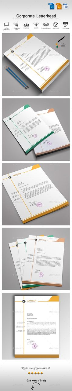 Corporate Letter Head Letterhead design, Stationery printing and - corporate letterhead