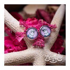 Rózsaszín unikornis fülbevaló