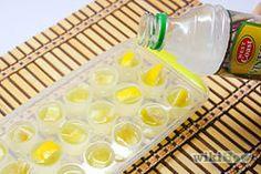 Make Lemon Vinegar Ice Cubes to Clean Garbage Disposal - wikiHow