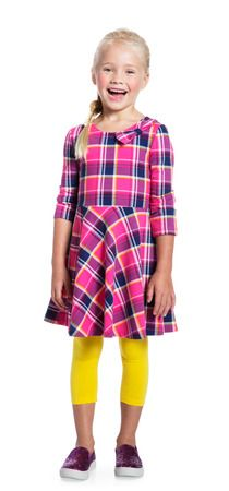 This is the Perfect back to school outfit! the dress is so cute and fun, and the leggings just make me smile! #FabKids