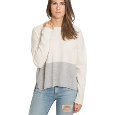 Pomegranate Inc. | Zoe Sweater, Ivory & Grey