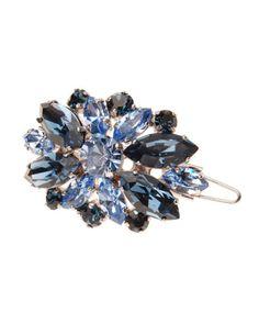 L. Erickson Countess Crystal Barrette w/ Tige Boule, $178; bergdorfgoodman.com