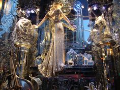 Bergdorf's NYC 2009 Fair Grounds, Shops, Chandelier, Window, Nyc, Ceiling Lights, Home Decor, Homemade Home Decor, Tents
