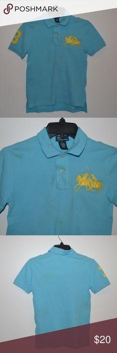 Ralph Lauren Kids Polo Used Ralph Lauren Blue Yellow horse Polo by Ralph Lauren Shirts & Tops Polos