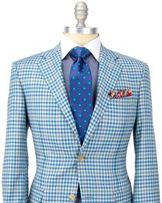 Blue and Tan Check Sportcoat