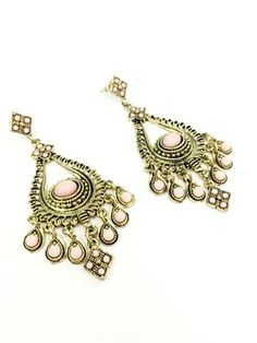 La Bella Donna - Γυναικεια σκουλαρικια statement-Ροζ Charmed, Bracelets, Jewelry, Fashion, Moda, Jewlery, Jewerly, Fashion Styles, Schmuck