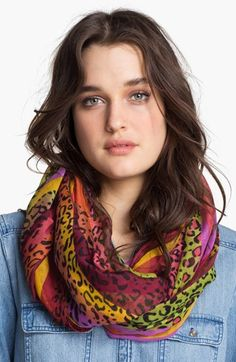 Tasha Stripe Animal Print Infinity Scarf available at #Nordstrom to work with XCVI June delivery