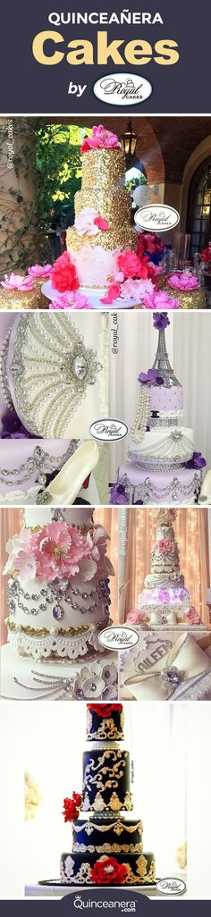 Who are the talented bakers behind these elegant custom quinceanera cakes? - See more at: http://www.quinceanera.com/food/elaborate-custom-quinceanera-cakes-by-royal-cakes-inc/?utm_source=pinterest&utm_medium=social&utm_campaign=article-030816-food-elaborate-custom-quinceanera-cakes-by-royal-cakes-inc#sthash.q0Mi4pu9.dpuf
