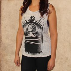 the Bell Jar - women's relaxed fit tank - white marble