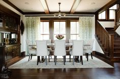 Designs by Sundown is a 2020 Gold List honoree featured in Luxe Interiors + Design. See more of this design professional's projects. Cottage Design, House Design, Casual Dining Rooms, Country Chic Cottage, Dining Room Inspiration, Rug Inspiration, Dining Room Design, My Living Room, Living Spaces