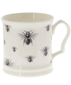 White Napoleon Repeating Bees Mug