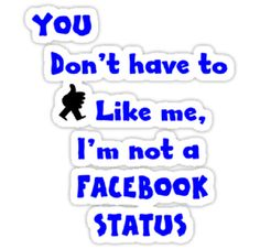i don't have facebook stickers: i don't have facebook stickers