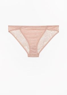 Soft lace briefs with an elegant cut and a romantic, feminine quality.