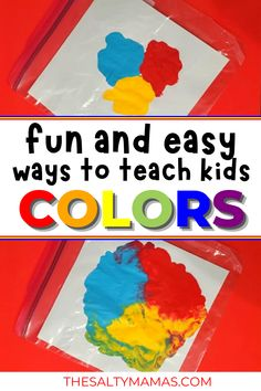 Wondering how to teach your 2 year old their colors? Or 3, 4, or 5 year old? Whatever your child's age, they're going to love these color activities for toddlers (featuring a FREE printable color activity!), written by an early education teacher. Color Activities For Toddlers, Activities For 2 Year Olds, Motor Skills Activities, Sorting Activities, Educational Activities, Toddler Activities, Best Outdoor Toys, Outdoor Toys For Kids, Teaching Colors