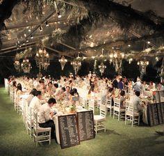 bali dinner setting