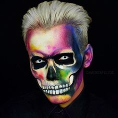 Happy October 1st! In honor of the Halloween month, we're posting inspiring looks from some of your fave MUAs every single day!! To create this incredible skeleton, @cameronpulido used our SFX Creme Colour Face & Body Paint in 'Fuchsia,' 'Blue,' 'Red,' 'White,' 'Green,' 'Yellow,' 'Black,' 'Brown' + our Primal Color in 'Hot Black.' ⚡️ #nyxcosmetics #nyxprofessionalmakeup