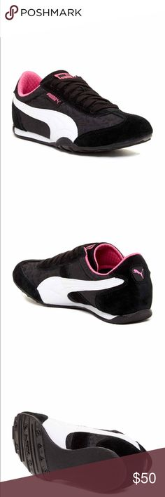 Puma black and pink sneakers New in box. Size 9. Puma Shoes