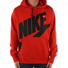Nike Exploded Logo Hoodie (Red Black) ($50) ❤ liked on Polyvore featuring tops, hoodies, pullover hoodie, black hoodie, pullover hoodies, black hoodies и pullover hooded sweatshirt