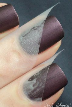 Two-Tone Taped Mani | 20 DIY Nail Tutorials You Need To Try This Fall