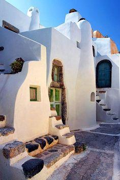 Casas griegas de estilo tradicional