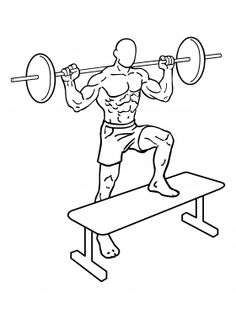 Barbell Step Ups 1
