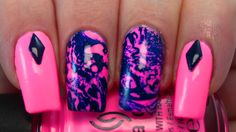 Neon Psychedelic Nail Art