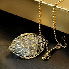 Elegant Jewelry Hollow Leave Crystal Pendant Branch Sweater Necklace only $37.99 in ByGoods.com!