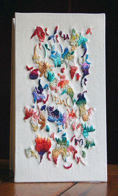 embroidered book cover --- by Marina Soria | Artistic Work | Artist books