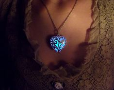 Heart of the Forrest glowing necklace