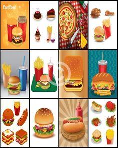 Happy Planner Sticker Sheet Fast Food