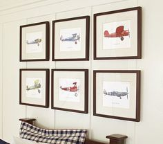 Pottery Barn Look-Alikes: Pottery Barn Kids Framed Vintage Plane Art