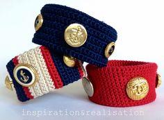 DIY vintage buttons bracelets