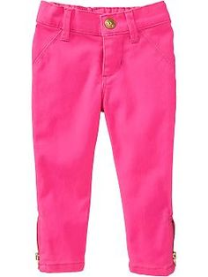 Ankle-Zip Skinny Khakis for Baby   Old Navy Цветные джинсы с регулируемым поясочком. Хлопок 98% спандекс 2%