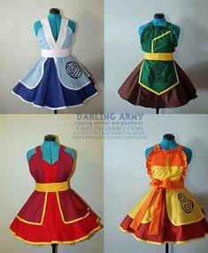 Avatar Nations Cosplay pinafores by DarlingArmy