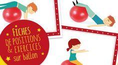 Vous trouverez dans cet article des fiches pour travailler la motricité ainsi que l'équilibre à l'aide du bodyball.Ces gros ballons plaisent à tout le monde et surtout aux plus petits ! Dans nos fiches vous trouverez plusieurs figures à réaliser avec le bodyball pour : Travailler l'équilibre Aider les enfants à se détendre et avoir … Gross Motor Activities, Activities For Kids, Relaxing Yoga, Relaxation, Free Frames, Baby Gym, Decorating Tips, Aide, Classroom