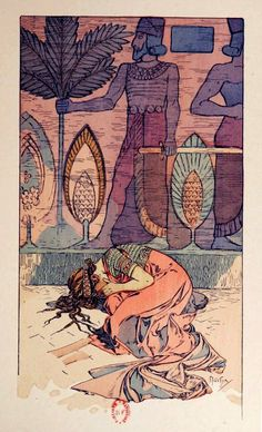 Rama: Poème Dramatique in 3 Actes by Paul Vérola, illustrated by Alphonse Mucha Edward Robert Hughes, Art Et Illustration, Illustrations, Alphonse Mucha Art, Art Nouveau Poster, Tarot, Art And Architecture, Pop Art, Drawings