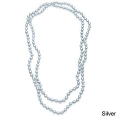 Alexa Starr Hand-knotted Endless Glass Pearl Necklace   Overstock.com Shopping - Big Discounts on Alexa Starr Fashion Necklaces
