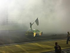 Sprint Cup Champion!!!!! Kyle Busch waving the Championship Flag at Homestead