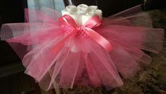 NEW multi pink  tutu ballet mini diaper cake so super precious comes in any color you need for your baby shower. $9.00, via Etsy.