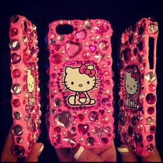 Pink Hello Kitty Iphone Case on Etsy, $15.00 hot pink HK cell phone case iPhone