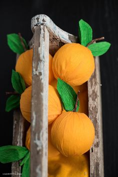 Crepe Paper Clementines ~ Lia Griffith
