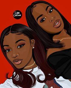 🌺Aminatta 🌺 Which one do you prefer , shades on or off ? Black Art Painting, Black Artwork, Black Love Art, Black Girl Art, Drawings Of Black Girls, Trill Art, Natural Hair Art, Black Girl Cartoon, Black Art Pictures