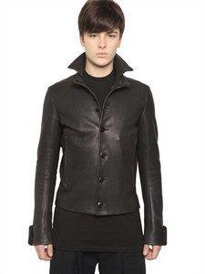 Ann Demeulemeester - Heavy Leather Jacket | FashionJug.com