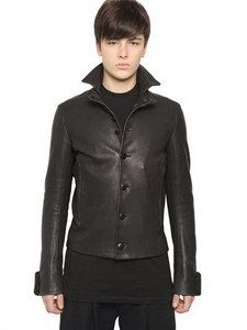 Ann Demeulemeester - Heavy Leather Jacket | FashionJug.com