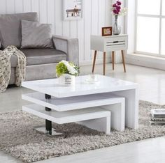 Top Home Design 93 Most Popular Living Room Table Furniture 5 White Bedroom Furniture, Living Furniture, Table Furniture, Luxury Furniture, Furniture Design, Plywood Furniture, Outdoor Furniture, Ikea Coffee Table, Cool Coffee Tables