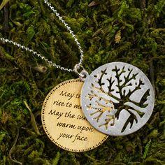 Irish Prayer and tree of life charm!