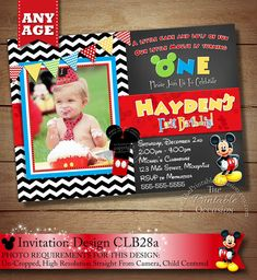 HUGE SELECTION Black Chevron Mickey Mouse by ThePrintableOccasion