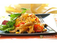 Red pepper, corn and chicken combine to make this an unusual yet scrumptious lasagne dish. Lasagne Dish, Lasagne Recipes, Red Peppers, Thai Red Curry, Poultry, Macaroni And Cheese, Chicken Recipes, Food And Drink, Cooking Recipes