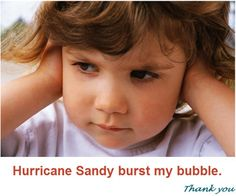 Crushed by Hurricane Sandy - She crushed the image I had of my family.  Click the image to read the article and then, please consider sharing your stories with me.